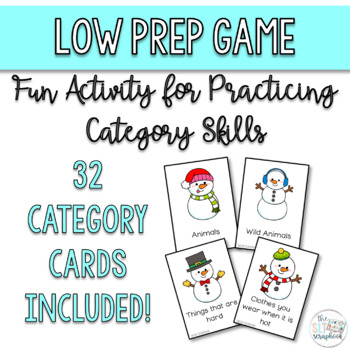 Winter Themed Category Game- Cool Categories - Freebie