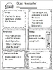Winter Themed Class Newsletter Templates...Editable
