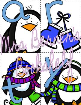Winter-Themed Classroom Management Cards