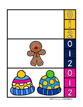 Winter-Themed Clip Cards for Counting 0-20 by Education and Inspiration