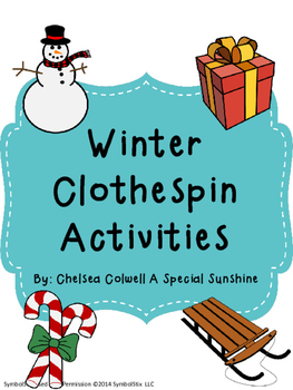 Winter Themed Clothespin Activities