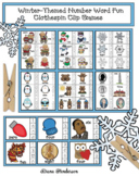 Winter-Themed Clothespin Clip Number Word Games