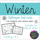 """Winter Themed """"Count and Clip"""" Cards"""