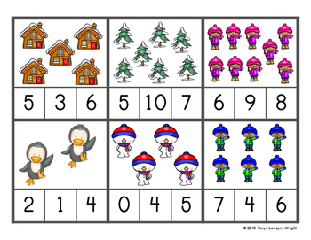 Winter Themed Color, Count, Order, and Sort Activities