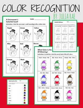 Winter Color Recognition - 4 Quick & Fun Exercises!