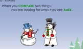 Winter Themed Compare and Contrast 4-day Unit (For Smartboard)