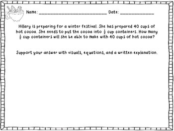 Winter Themed Constructed Response Practice Problems: Common Core Aligned