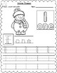 Winter Themed Count, Trace & Color Numbers 1-10