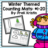 Winter Themed Counting (Playdough) Mats: #1-20