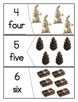 Winter Themed Counting Puzzles