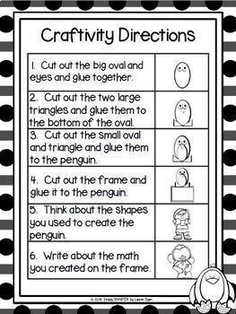 Winter Themed Cut and Paste Shape Math Craftivities Bundle