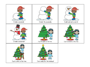Sequencing Activities and Centers- Winter Story Sequencing