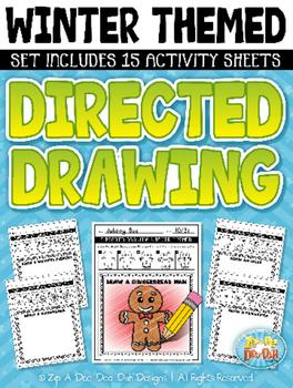 Winter Directed Drawing Activity Pack {Zip-A-Dee-Doo-Dah Designs}