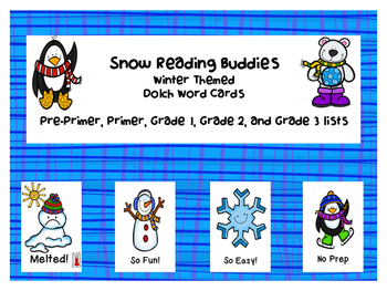 Winter Themed Dolch Word Games - Bundle!