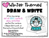 Winter Themed Draw and Write Directed Drawing