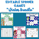 Winter Themed EDITABLE Spinner Games Bundle