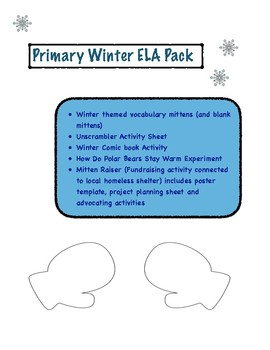 Winter Themed ELA Pack (Primary)