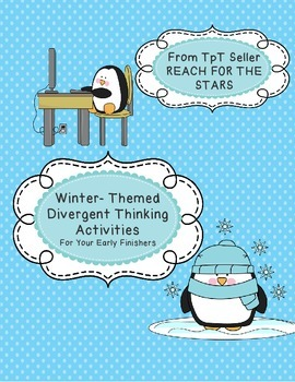 Winter Themed Early Finisher Activity