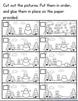 Winter Themed Easy Reader  With Writing Templates, and  Activities