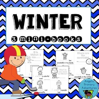 Winter Themed Emergent Readers:  Set of 3 mini-books