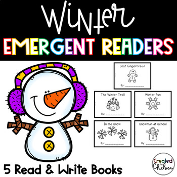 Winter Emergent Readers {Set of 5 Read and Write Books}