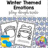 Winter Themed Emotions Play Dough Mats