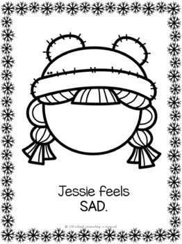 Winter Themed Emotions Play Dough Mats