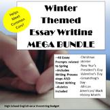 Winter Themed Essay Writing Mega Bundle, w Rubrics & Printables