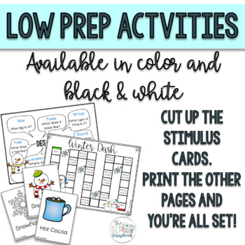 Winter Themed Expressive Language Pack