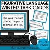 Figurative Language Winter Task Cards   Figurative Language