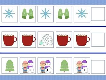 Winter Themed File Folders (4)