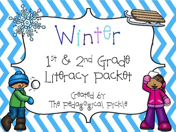 Winter Themed First & Second Grade Literacy Packet