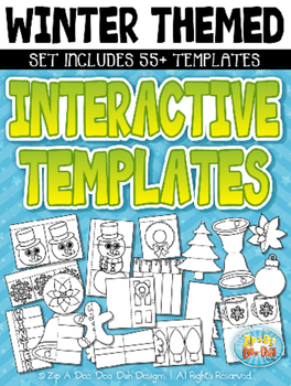 Winter Themed Flippable Interactive Templates Set — Includ