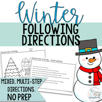 Winter Themed Following Directions Coloring Pack