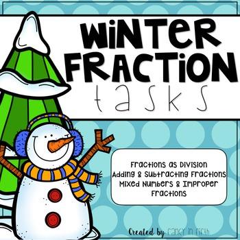 Winter Themed Fractions Tasks
