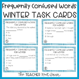 Frequently Confused Words Winter Task Cards | Frequently C
