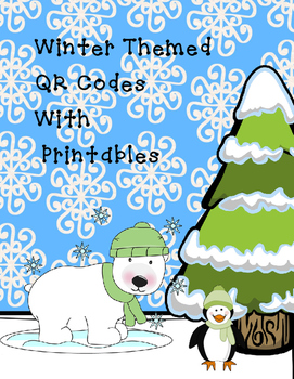 Winter Themed  Fun Informational QR Codes with Leveled Printables