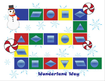 Winter Themed Game- Shape It & 2 Bonus Worksheets