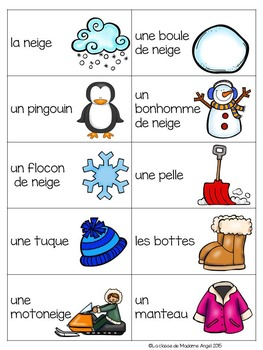Hiver:  Winter Themed Game in French - La tapette à mouches