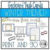 Winter Themed Geoboard Task Cards
