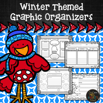Winter Themed Reading Comprehension Graphic Organizers