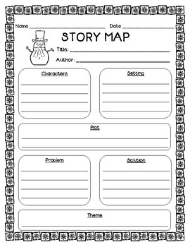 Winter Themed Graphic Organizers & Literacy Center Recording Sheets