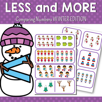 Winter Themed Greater than or Less than Activities