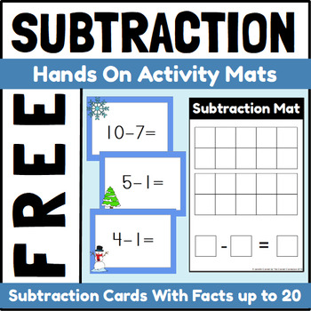 Winter Themed Hands On Subtraction Center Freebie