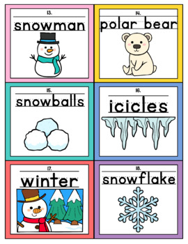 Winter Themed Handwriting Scoot and/or Write the Room