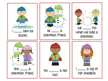 Winter-Themed Has/Have Sorting Activity