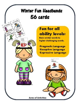 Winter Themed Headbands Game - Fun Pragmatic and Receptive Language Skills