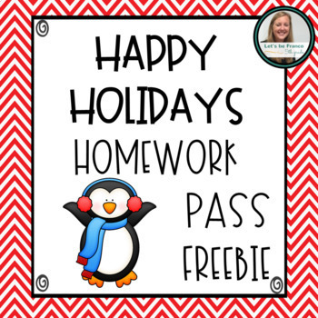 Winter Themed Homework Pass Freebie