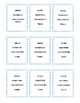 Winter Themed Homophone Concentration Game - Triplets
