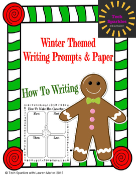 Winter Themed How To Writing Prompts & Paper